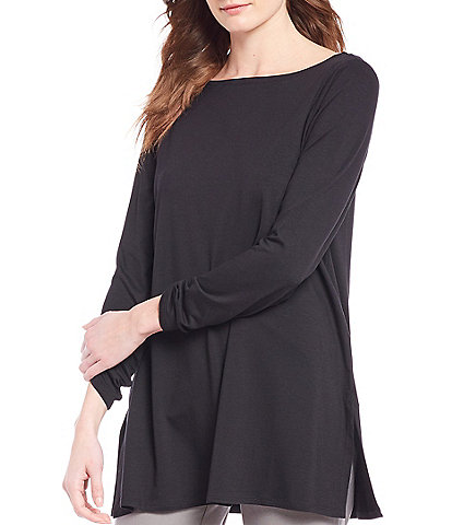 Eileen Fisher Fine Tencel Jersey Bateau Neck Tunic