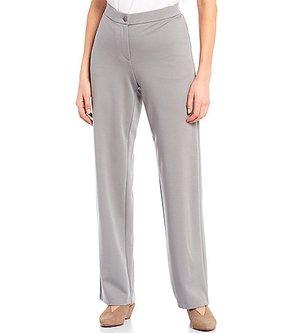 Eileen Fisher Flex Tencel Travel Ponte Straight Full Length Pant