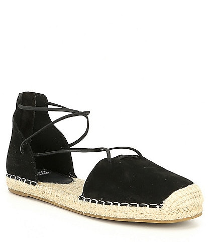 Eileen Fisher Lace Suede Espadrilles