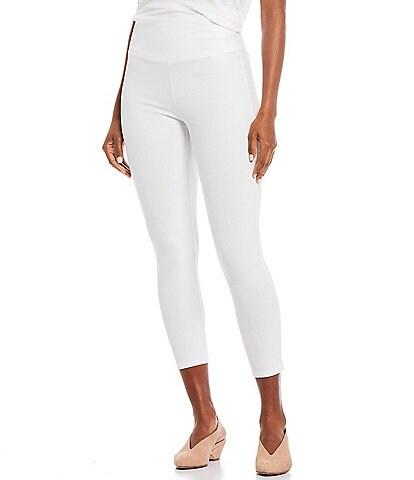 Eileen Fisher Lightweight Organic Cotton Jersey High Waist Cropped Legging