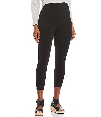 Eileen Fisher Lightweight Organic Cotton Jersey High Waist Cropped Legging