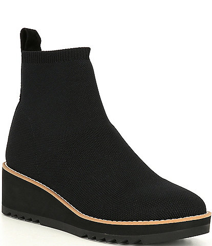 Eileen Fisher London 2 Stretch Knit Wedge Booties