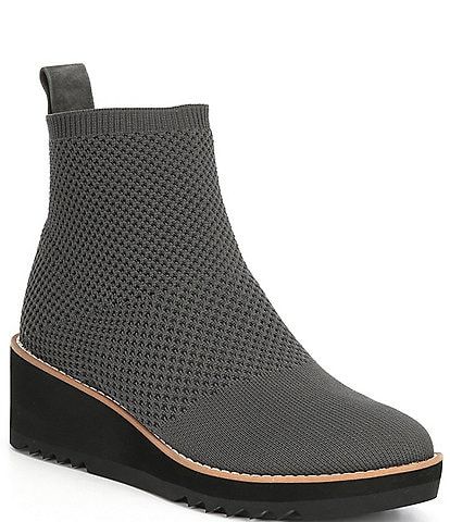 Eileen Fisher London Recycled Stretch Knit Wedge Boots