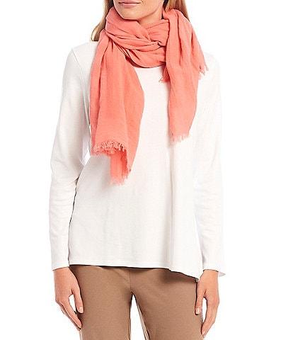 Eileen Fisher Organic Cotton Mesh Stripe Scarf