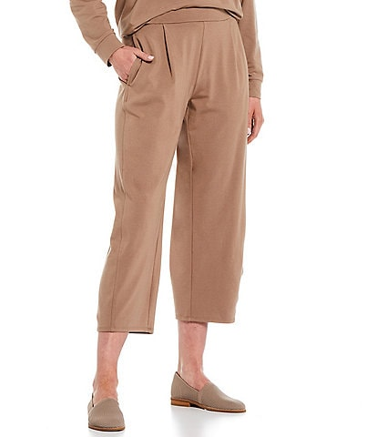 Eileen Fisher Organic Cotton Stretch Jersey Cropped Coordinating Lantern Pants