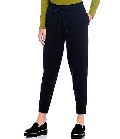 Eileen Fisher Organic Cotton Stretch Jersey Slouchy Ankle Jogger Pant