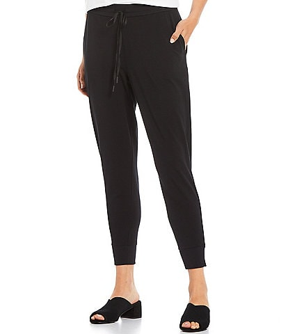 Eileen Fisher Organic Cotton Stretch Jersey Slouchy Ankle Jogger Pants