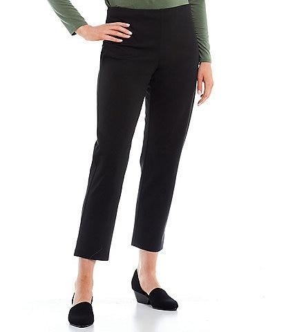 Eileen Fisher Organic Cotton Stretch Twill Slim Leg Ankle Pants