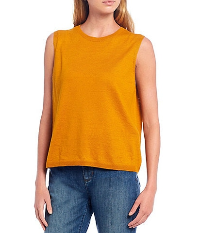 Eileen Fisher Organic Linen Cotton Crew Neck Shell