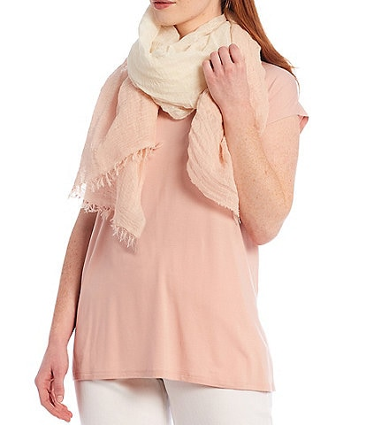 Eileen Fisher Organic Linen Cotton Ombre Scarf