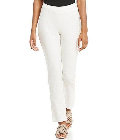 Eileen Fisher Petite Size Slim Straight Ankle Pant