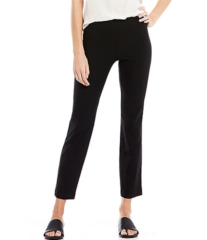 Eileen Fisher Petite Size Stretch Crepe Slim Fit Ankle Pants