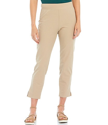 Eileen Fisher Petite Size Washable High Waist Slim Cropped Pants