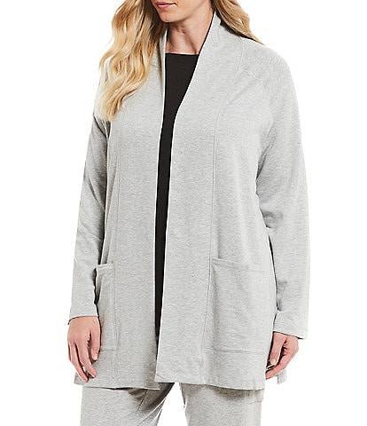 Eileen Fisher Plus Size Kimono Long Cardigan