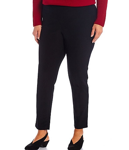 Eileen Fisher Plus Size Ridge Knit Slim Ankle Pant