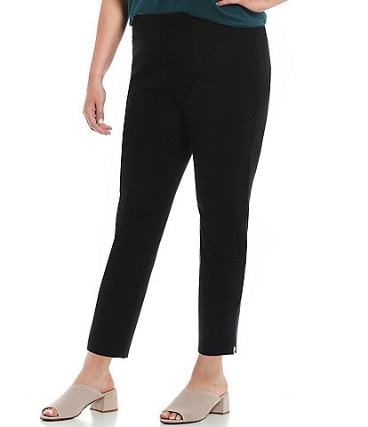 Eileen Fisher Plus Size Washable Stretch Crepe Pull On Pant