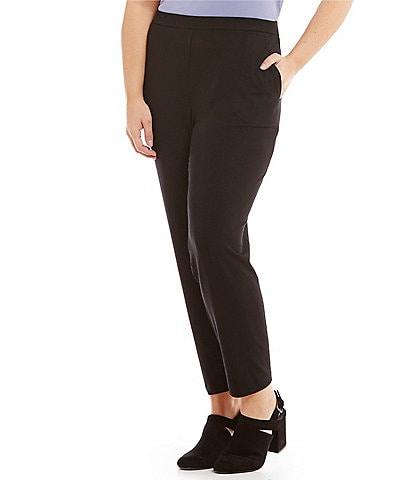 Eileen Fisher Plus Slim Ankle Pants with Pockets