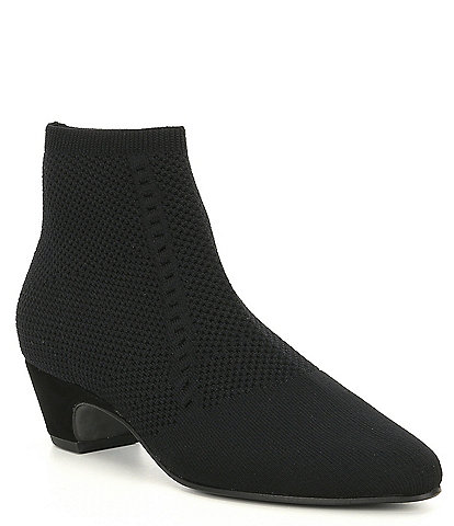 Eileen Fisher Purl Stretch Block Heel Booties