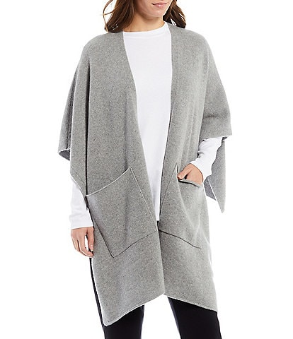 Eileen Fisher Recycled Cashmere and Wool Blend Wrap