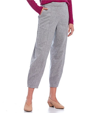 Eileen Fisher Soft Wool Flannel Lantern Ankle Pant