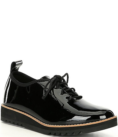 Eileen Fisher Strive Patent Leather Oxfords