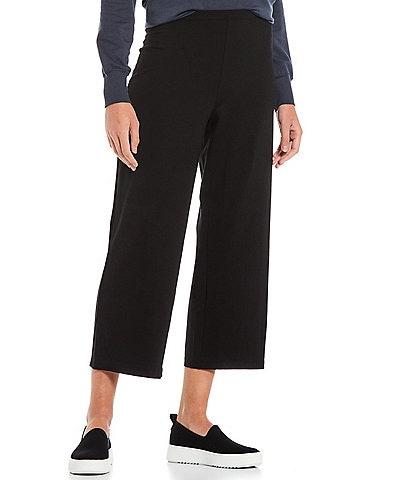 Eileen Fisher Tencel Jersey Straight Cropped Straight Leg Pants