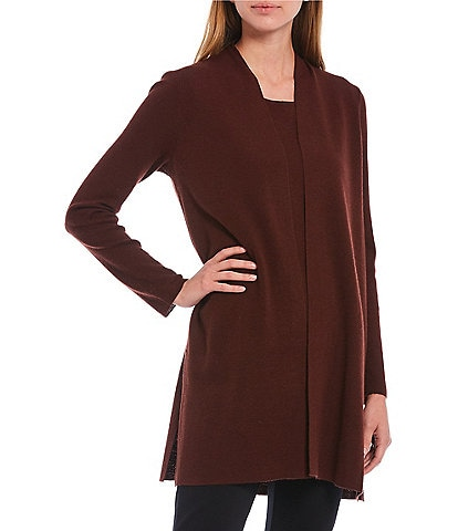 Eileen Fisher Ultrafine Merino Wool Straight Cardigan