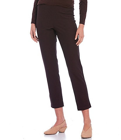 Eileen Fisher Washable Stretch Crepe Ankle Pull-On Pant