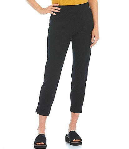 Eileen Fisher Washable Stretch Crepe Pull-On Crop Pant
