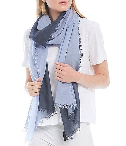Eileen Fisher Wool Silk Cashmere Ombre Scarf