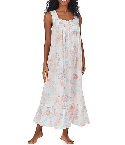 Eileen West Floral Print Woven Lawn Ballet Nightgown