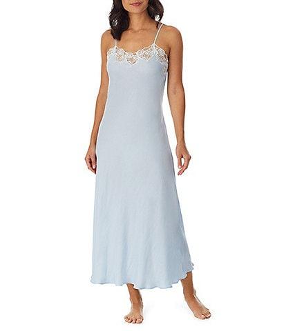 Eileen West Silky Satin Long Nightgown