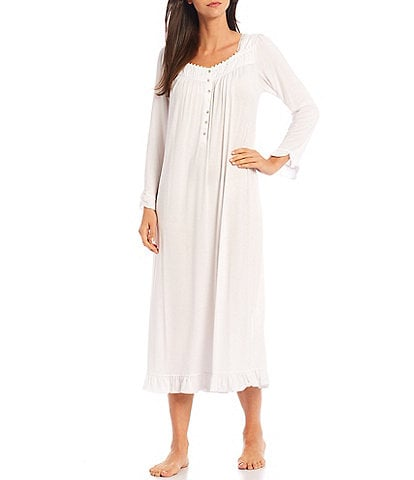 Eileen West Solid Modal Stretch Jersey Long Sleeve Ballet Nightgown