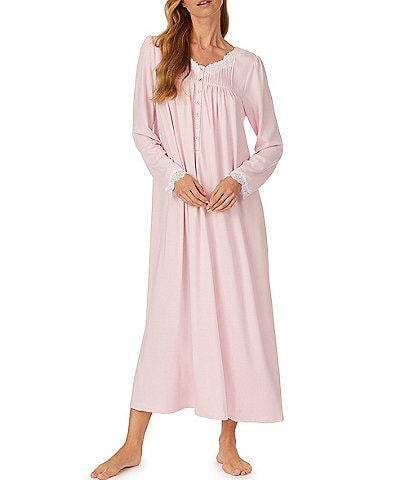 Eileen West Solid Sweater Knit Long Sleeve Ballet Nightgown