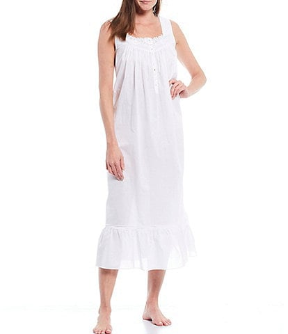 Eileen West Woven Lawn Long Sleeveless Nightgown