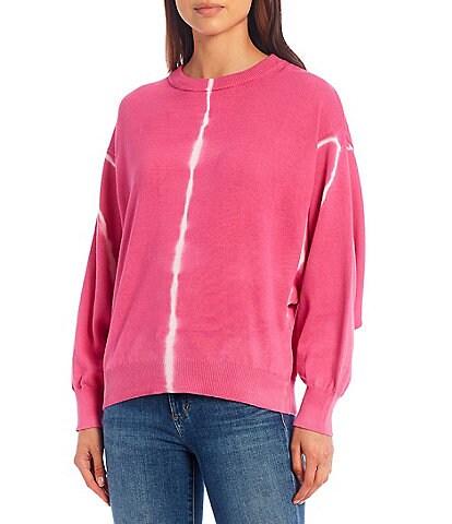 ELAN Tie Dye Long Dolman Sleeve Pullover