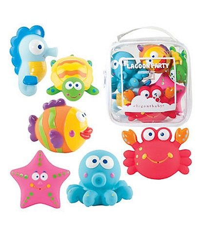 Elegant Baby 6-Piece #double;Lagoon Party#double; Bath Squirties