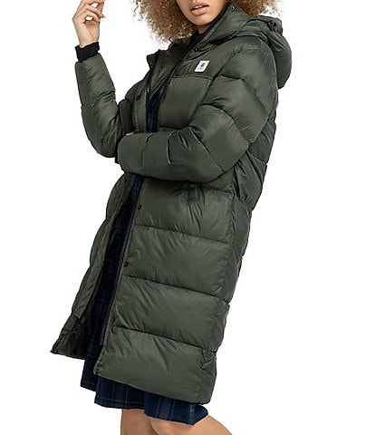 Element Dulcey Light Weight Hooded Long Puffer Jacket