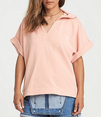 Element Hum Along Dolman-Sleeve Hooded French Terry Oversized-Fit Sweatshirt