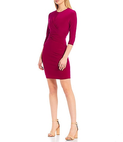 Eliza J Criss Cross Front Detail Sheath Dress
