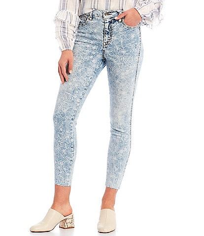 Ella Moss Super High Rise Skinny Ankle Jeans