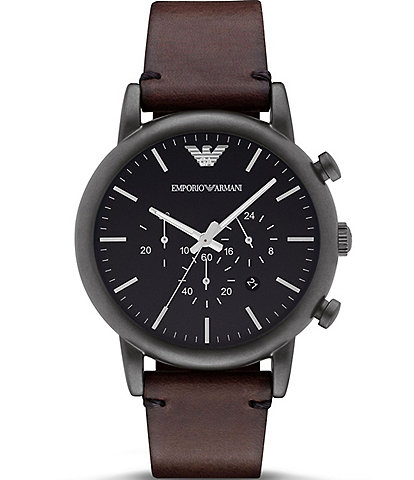 Emporio Armani Men's Dress Brown Chronograph Watch