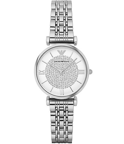 Emporio Armani Mia Silver-Tone Bracelet Watch