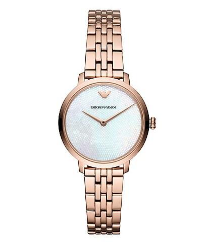 Emporio Armani Modern Slim Rose Gold Bracelet Watch
