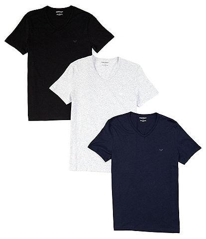 Emporio Armani Pure Cotton V-Neck T-shirts 3-Pack