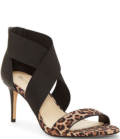 Enzo Angiolini Aydria Leopard Print Suede Dress Sandals