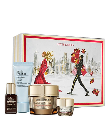 Estee Lauder Revitalizing Supreme Firm and Glow 4-Piece Skincare Collection Set