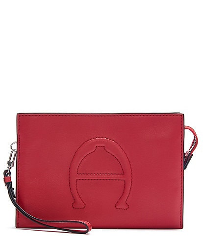 Etienne Aigner Adeline Signature Leather Wristlet Crossbody