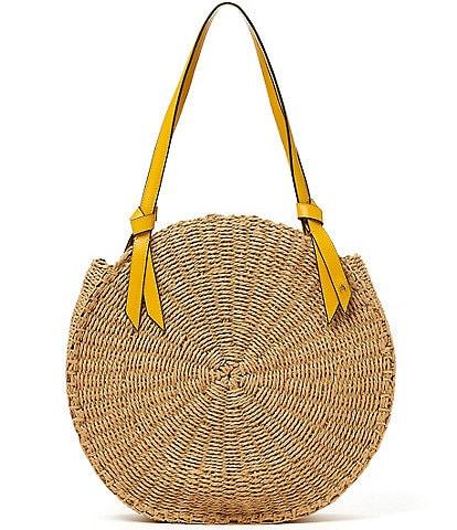 Etienne Aigner Luca Circle Woven Straw Shoulder Bag