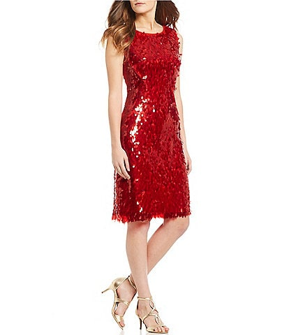 Eva Franco Sequin Sheath Dress